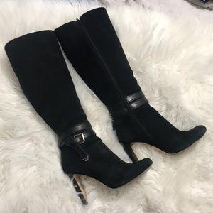 6 1/2 Black Suede Tall Antonio Melani Boots